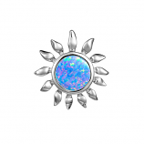 Sterling Opal Sunflower Pendant