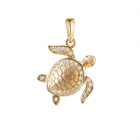 Diamond Turtle Pendant