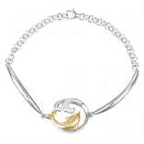 Sterling Dolphin Wave Bracelet