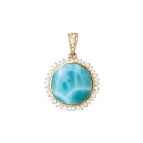 Diamond and Larimar Pendant
