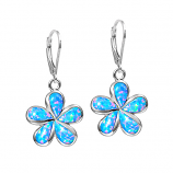 Sterling Opal Plumeria Earrings