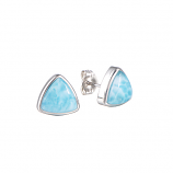 Sterling and Larimar Earrings