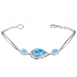 Sterling Larimar Bangle