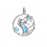 Sterling Larimar Sealife Pendant