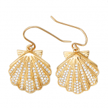Diamond Scallop Earrings
