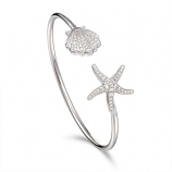 Sterling Starfish and Scallop Bracelet