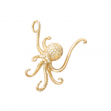 Diamond Octopus Pendant