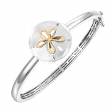 Sterling Sanddollar Bangle Bracelet