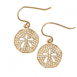 Diamond Sand Dollar Earrings