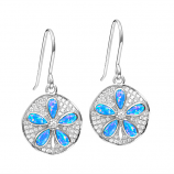 Sterling Opal Sanddollar Earrings
