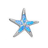 Sterling Opal Starfish Pendant