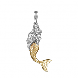 Sterling Mermaid Pendant