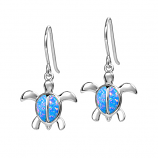 Sterling Opal Turtle Earrings