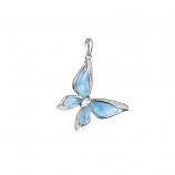 Sterling Larimar Butterfly Pendant