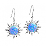 Sterling Opal Sun Earrings
