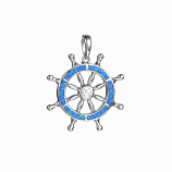 Sterling Ships Wheel Pendant