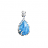 Sterling Larimar Tears of Joy Pendant