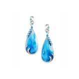 Sterling Tears of Joy Larimar Earrings