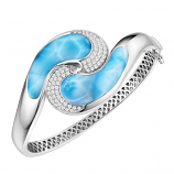 Sterling Larimar Wave Bracelet
