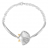Sterling Scallop Bracelet