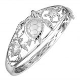 Sterling Turtle Bangle