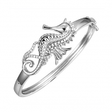 Sterling Seahorse Bangle