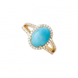 Larimar and Diamond Ring