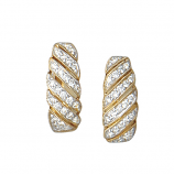 14Kt Gold Hinged Hoop Diamond Earrings