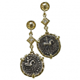 **SOLD**  Indo-Scythian Drachm - Azes II Coin Earrings