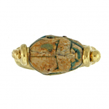Ancient Egyptian Scarab - 18Kt Flip Ring