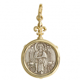Venetian AR Grosso Coin in 14Kt Gold Pendant