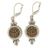 Ancient Widow's Mite Sterling Silver Earrings