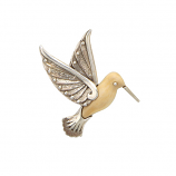 Fossilized Ivory Hummingbird Pendant
