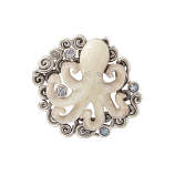Sterling Fossil Ivory Octopus Pendant