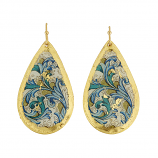 """Blue Firenze"" Earrings by Evocateur"