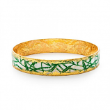 """Green Bamboo"" Bangle by Evocateur"