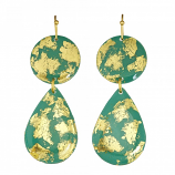 """Jade Mini"" Teardrop Earrings by Evocateur"