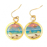 """Sanibel Sunset"" Disc Earrings by Evocateur"