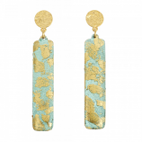 """Turquoise Column"" Earrings by Evocateur"