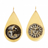 """Sun and Moon"" Teardrop Earrings by Evocateur"