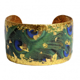 """Dreamy Peacock"" Cuff by Evocateur"