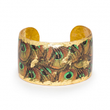 """Rusty Peacock"" Cuff by Evocateur"