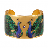 """Two Peacocks"" Cuff by Evocateur"