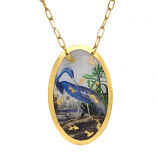"""Blue Heron"" Necklace by Evocateur"
