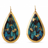 """Turquoise Butterfly Wings"" Earrings by Evocateur"