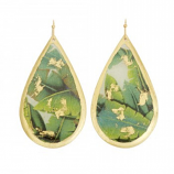 """Banana Leaf"" Earrings by Evocateur"