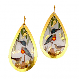 """King Fisher"" Teardrop Earrings by Evocateur"