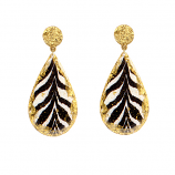 """Zebra"" Earrings by Evocateur"