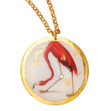 """Flamingo"" Necklace by Evocateur"