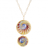 """Fossil Nautilus"" Necklace by Evocateur"